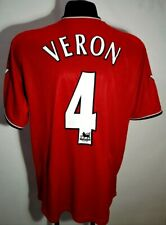 MANCHESTER UNITED 2000 2001 2002 ENGLAND HOME FOOTBALL SHIRT JERSEY VERON #4