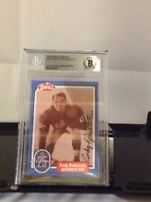 HOF Football Andy Robustelli Signed Card Beckett Authenticated Encapsulated