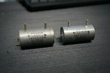 2 Sprague Vitamin Q NOS Capacitors 1.0 MFD 400V  FREE SHIPPING in USA