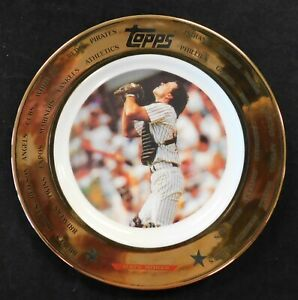 "Matt Nokes 1993 Topps Baseball Limited Edition 7.5"" Porcelain Gold Trim Plate"