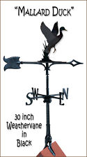 "Whitehall 30"" Duck Traditional Weathervane Black Rust-Proof Includes Roof Mount"