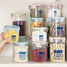 3pcs/set Plastic Kitchen Storage Containers Sealed Food Cans Candy Jar with Lid