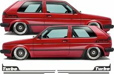 VW MK2 Golf Turbo retro side stripes decal Sticker 16V Syncro any colour Gti