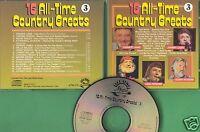 Various Artists - CD - 16 All-Time Country Greats - CD 3 von 1989 - Neuwertig !