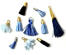 Jesse James Beads White Label Exclusives: BLUE VELVET Tassels - Shelly's Buttons