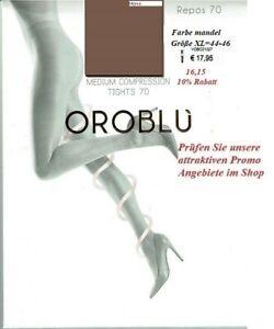 Oroblu Repos 70 den Stützstrumpfhose mittlere Stützwirkung, mandel, XL=44-46