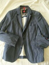 STRELLSON Jacket Blue Leisure with Imitation Leather abesetzt Size 50 NEW