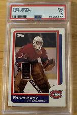 1986 Topps Patrick Roy Montreal Canadiens #53 PSA 5 EX