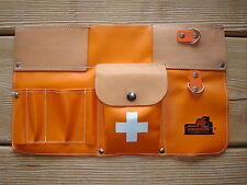 Werkzeugtasche für Waldarbeiter mit Lederbesatz mit Tasche für Verbandspäckchen
