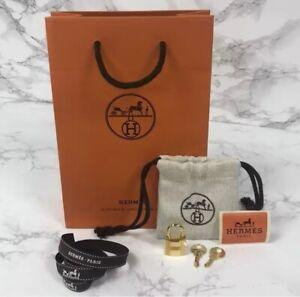 BRAND NEW, MINT 2020 Authentic Hermes Gold Padlock & 2 Keys Set Plastic Still On