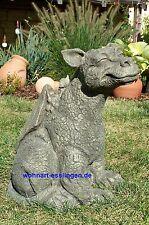 DS32 lächelnder Drache Cheezy massiver Steinguss Devonshire Statuary