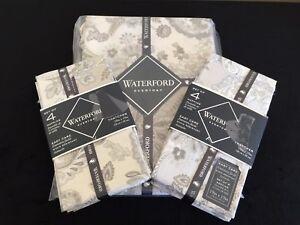 """Waterford THATCHER Tablecloth 70"""" Round & 8 Napkins JACOBEAN PAISLEY Cotton NWT"""