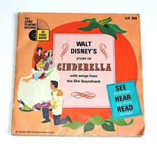 Walt Disney LP illustrated Story book : Cinderella 1966 24 Pages! Beautiful!