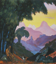 11x14 ART PRINT Whither Goest Thou,Brother? 1938 by S.Roerich LANDSCAPE - ANIMAL