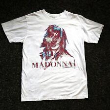 Madonna Mdna Tour el tamaño M 2012 ciudades del concierto Tour T-Shirt Tee L Grande