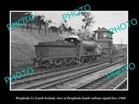 OLD LARGE HISTORIC PHOTO OF DROGHEDA LOUTH IRELAND, THE RAILWAY SIGNAL BOX c1960