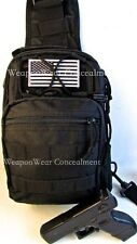 HEAVY DUTY Tactical SLING Go GEAR Bag Gun Concealment  Holster BLACK FREE GIFTS