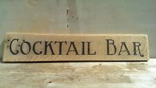 Rustic, Vintage, Cocktail Bar, Farmhouse, BBQ, Party, Plaque, Sign, Gift