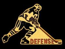 Hockey Defense Lapel Pin - High Gloss Goldtone