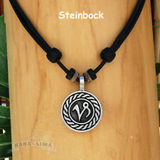 Necklace Surfer Chain Leather Mens Jewellery Zodiac Signs Animal Capricorn
