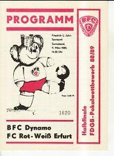 FDGB-Pokal 88/89 BFC Dynamo - FC Rot-Weiß Erfurt