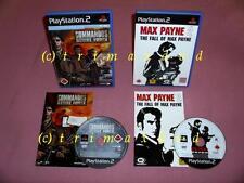 2x PS2 _MAX PAYNE 2 The Fall of Max Payne & COMMANDOS Strike Force _Erstausgaben