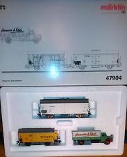 Set de vagones para el transporte mas vehículo Marklin ref. 47904