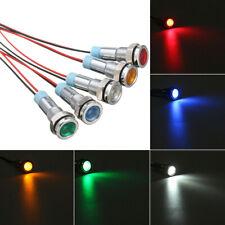 5x 6mm Car Boat LED Indicator Lights Dash Dashboard Panel Warning Pilot Lamp 12V