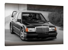 MERCEDES 190E COSWORTH - 34X24 INCH FRAMED HD CANVAS PRINT - VERY RARE 190 E