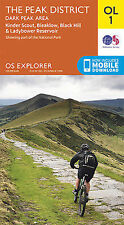 OL1 Peak District Dark Peak Ordnance Survey Explorer Map OL 1 2015
