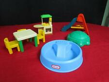 Little Tikes Vintage Dollhouse size, Kitchen, Table/chairs, Slide, Pool ,Sandbox