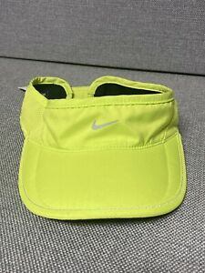 Nike Daybreak DRI FIT Women's ADJUSTABLE Neon Green Visor Cap Hat Swoosh nike