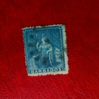 1871-72 BARBADOS POSTAGE STAMP ONE PENNY USED