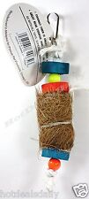 Pet Bird Tropical Teasers Coconut Wood Toy Fun Activity For Cage Small - Medium