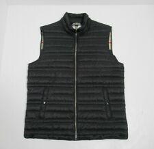 Burberry London England Men's Goose Down Puffer Quilted Gilet Vest Size M Black