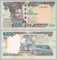 Nigeria 200 Naira 2009 p29h unc