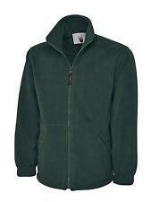 2 x Uneek Premium Full Zip Micro Fleece Jacket Mens 380 gsm Warm Top (UC601)