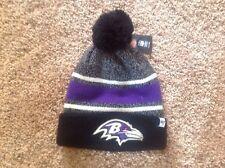 Baltimore Ravens '47 Brand Knit Hat Fairfax Cuff Beanie Pom Stocking Cap