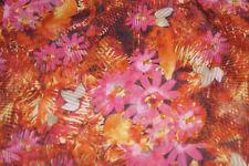 Chiffon Fabric Semi Sheer Apparel Fabric Rose Floral Bfab