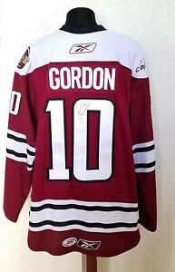 Andrew Gordon #10 Hershey Bears XXL Autographed Reebok AHL Hockey Jersey