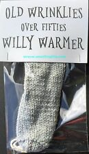 Old Wrinklies Knitted Willy Warmer ~ Adult Rude Novelty Gift