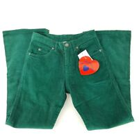 Hartstrings Girls Size 8 Solid Green Corduroy Pants Flare Leg NWT