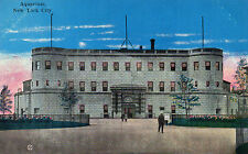 Art Deco tinted postcard the Aquarium New York.. unposted