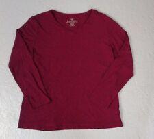 Faded Glory Women's Purple Long Sleeve Pullover Shirt L 12/14