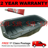 ENGINE OIL SUMP PAN + GASKET SEALANT + PLUG FOR RENAULT CLIO 1.2 2002 ON