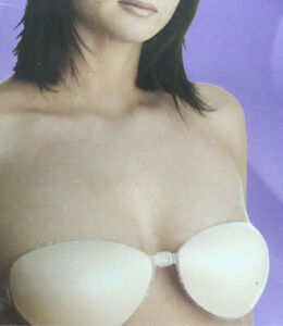 Nude Silicone enhancer A Cup front fastening clear clasp stick on bra Backless