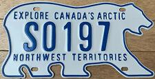 🌟 AUTHENTIC CANADA 2010's NORTHWEST TERRITORIES SCHOOL LICENSE PLATE. BEAR