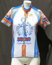 CAPOFORMA Italy Women's Full Zip Short Sleeve Cycling Jersey Top sz S Eugene OR