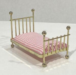 Dollhouse Shackman Brass Bed