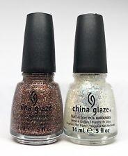 China Glaze Nail Polish Glitter Goblin 1134 + Make A Spectacle 1135 Glitter Lacq